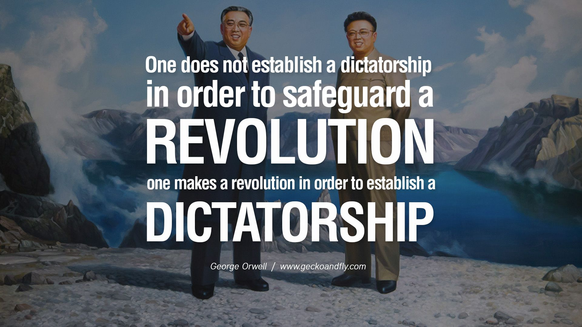 One does not establish a dictatorship in order to safeguard a ...