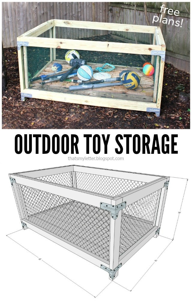 DIY Outdoor Toy Storage Bin - Jaime Costiglio