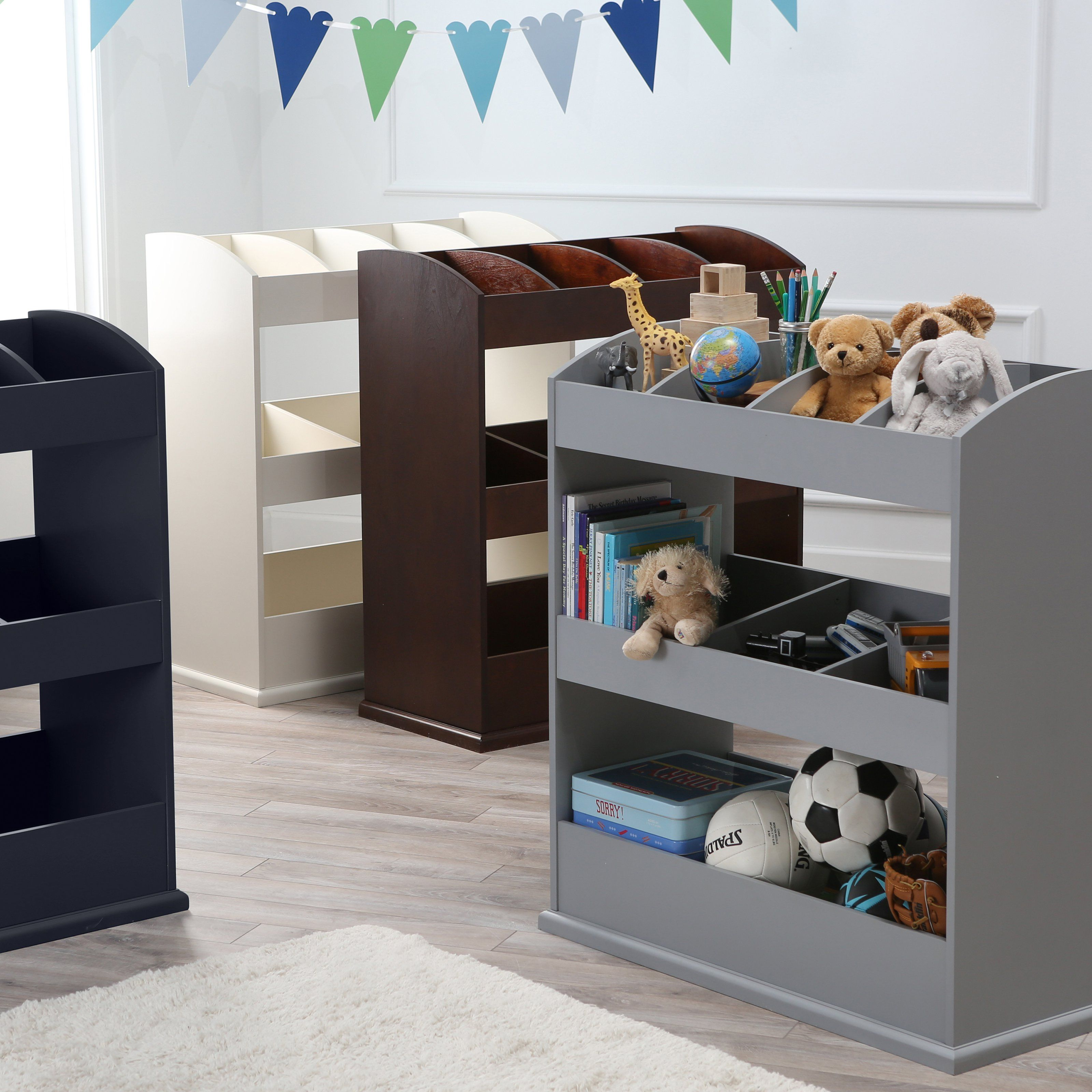 Create A Montessori Style Environment At Home With The Classic Playtime  Freestanding Toy Organizer .