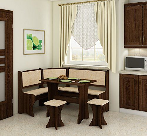 Meble Furniture Rugs Breakfast Kitchen Nook Table Set L Shaped
