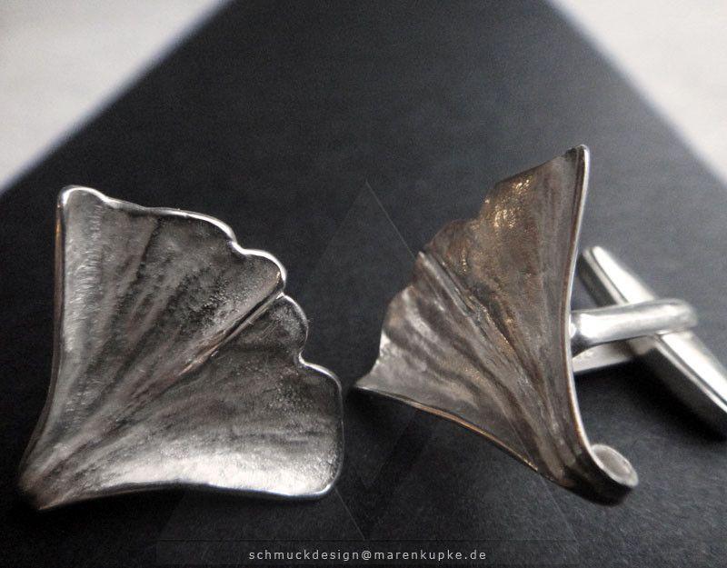 Ginkgoblatt - Ginkgo Anhänger Silber Geschenk Symbol für Lebenskraft und Stärke. ....passend im Partnerlook mit Collieranhänger ...