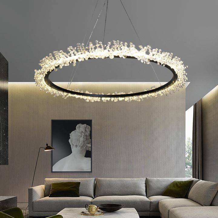 Modern Crystal Chandelier Light Bling Circular Pendant Lamp For Dining Room Dining Room Chandelier Modern Modern Crystal Chandelier Dining Room Chandelier
