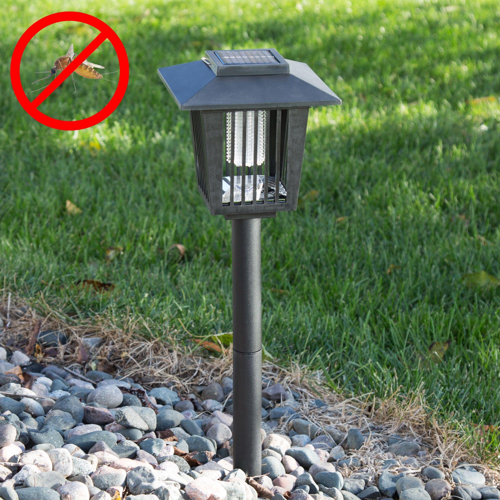 Solar Power Uv Mosquito And Bug Zapper Led Light Black By Pure Garden Walmart Com Pure Garden Bug Zapper Diy Landscaping