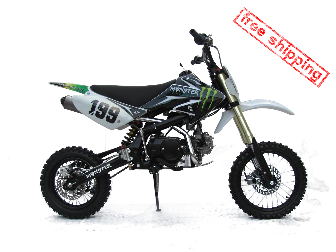 mikilon motocross dirtbike 125cc free shipping dirt. Black Bedroom Furniture Sets. Home Design Ideas