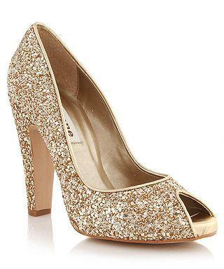 Short Gold Heels