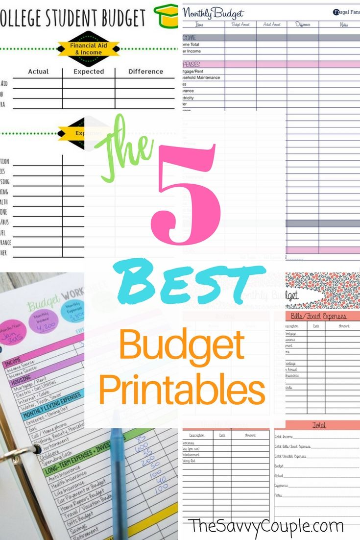 5 Life Changing Budget Templates You Need This Year Millennial