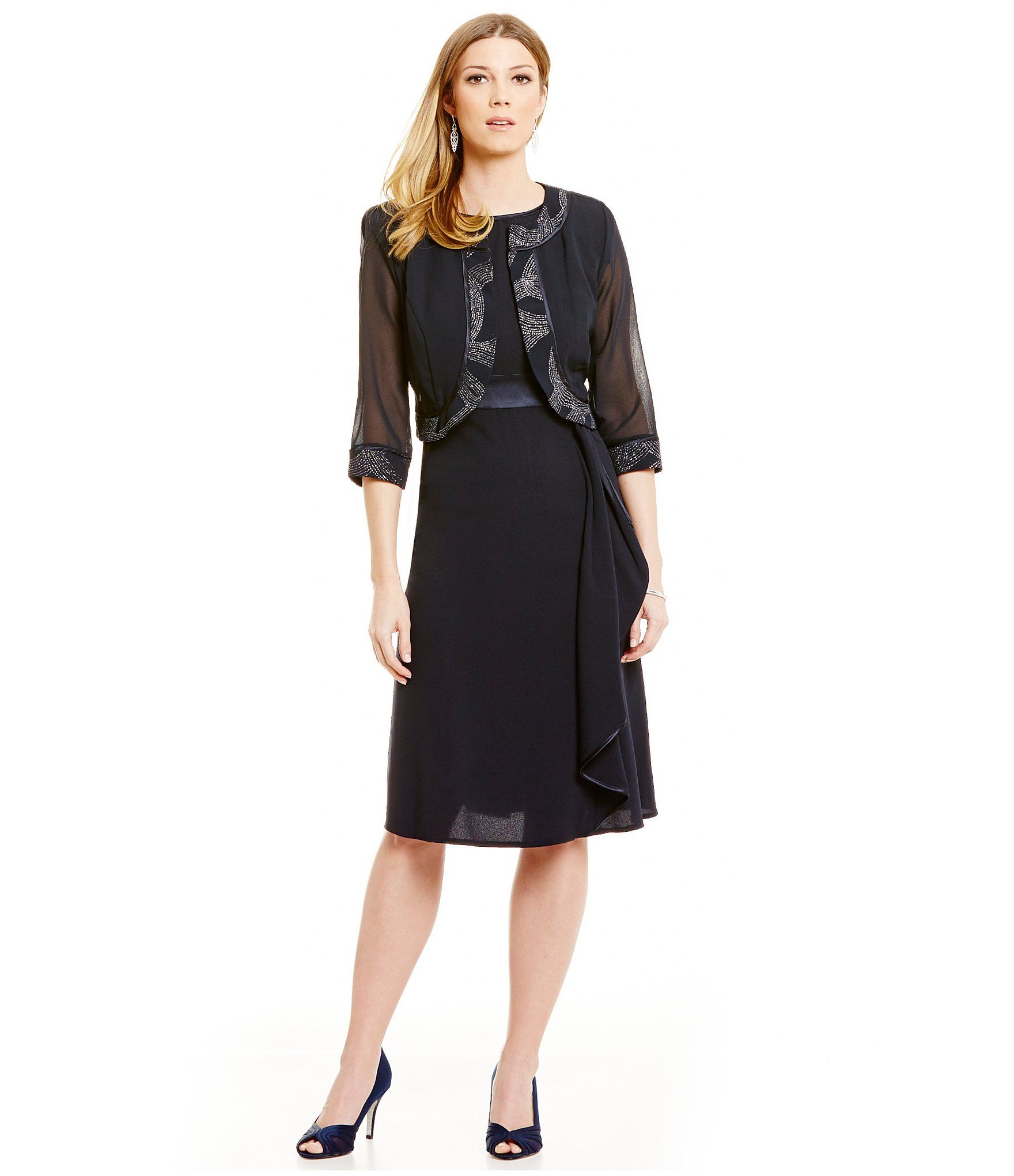 Shop for Le Bos Glitter-Trim 2-Piece Jacket Dress at Dillards.com ...