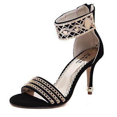 Chaussures de soirée à bout ouvert noires Fashion femme rMmmm