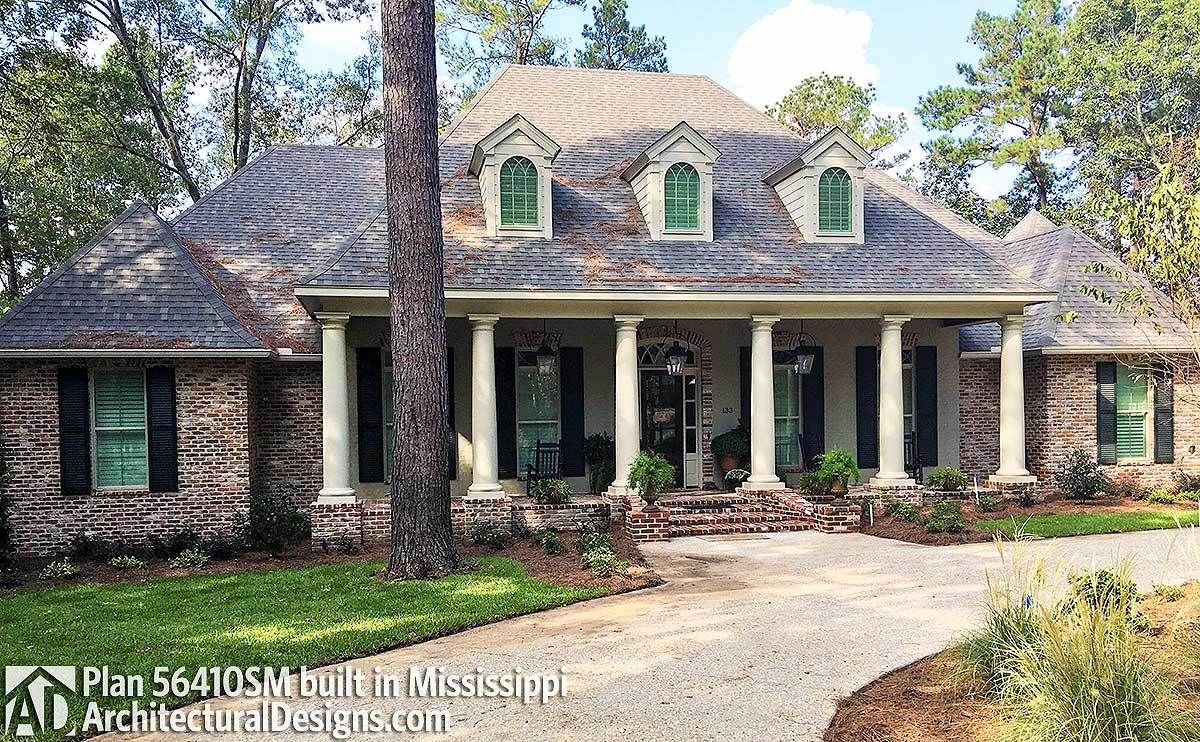 Plan 56410sm luxurious acadian house plan with optional for Acadian house plans with bonus room