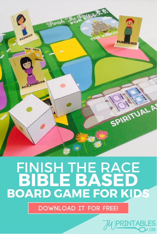 Finish The Race Free Printable Board Game For Jw Kids Juegos Y