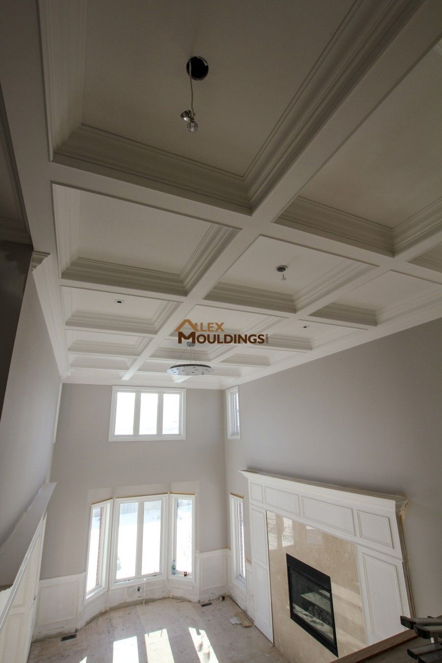 Hallway Waffle Ceiling Coffered And Waffle Ceilings Pinterest - Cornice crown moulding toronto wainscoting coffered ceiling