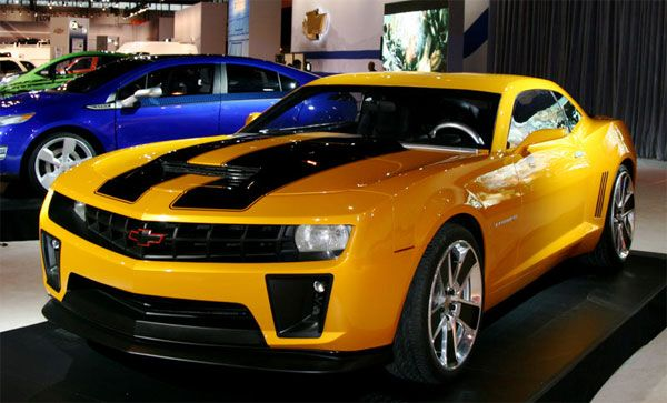 Its good to have a celebrity car in your garage  Bumble bee