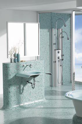 roll in shower bathrooms Pinterest Bathroom, Ada bathroom and
