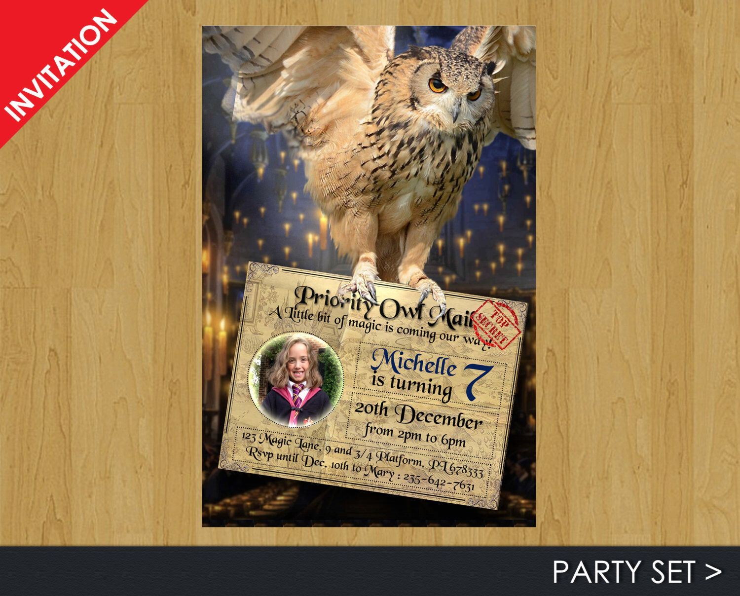 Digital harry potter invitation harry potter birthday invitation digital harry potter invitation harry potter birthday invitation birthday party set for harry potter party by printadorable on etsy stopboris Images