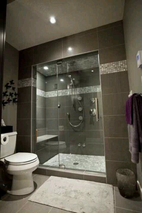 Steam Shower With Bench Very Similar To Our Set Up Basement Renovationsbasement Ideasbasement Bathroom