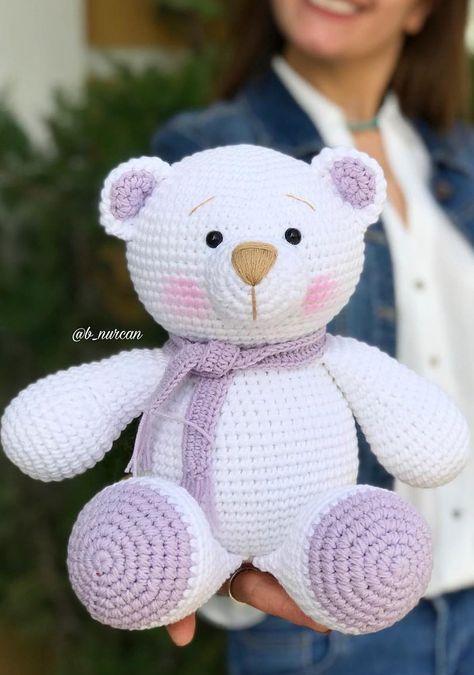 Urso pequeno chocalho de brinquedo de crochê amigurumi|toy rattle ... | 675x474