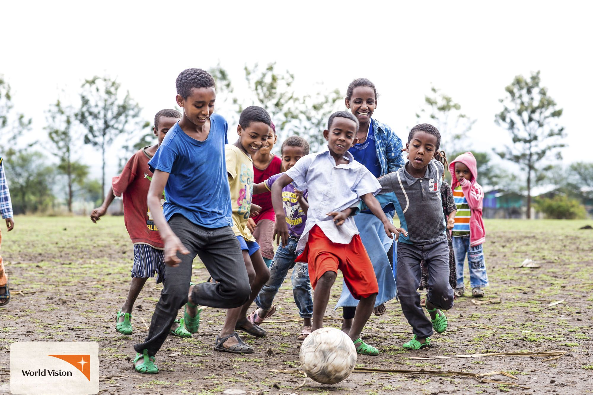 These kids in Ethiopia love to play a good game of