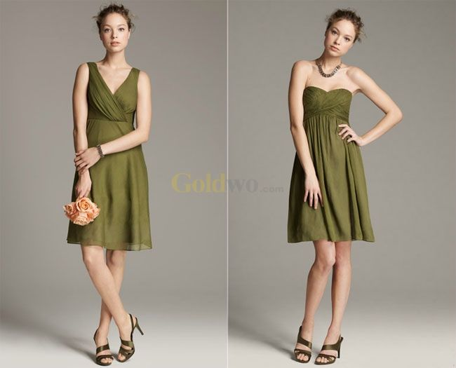 olive green bridesmaid dresses | ... Blog Archive » J Crew ...