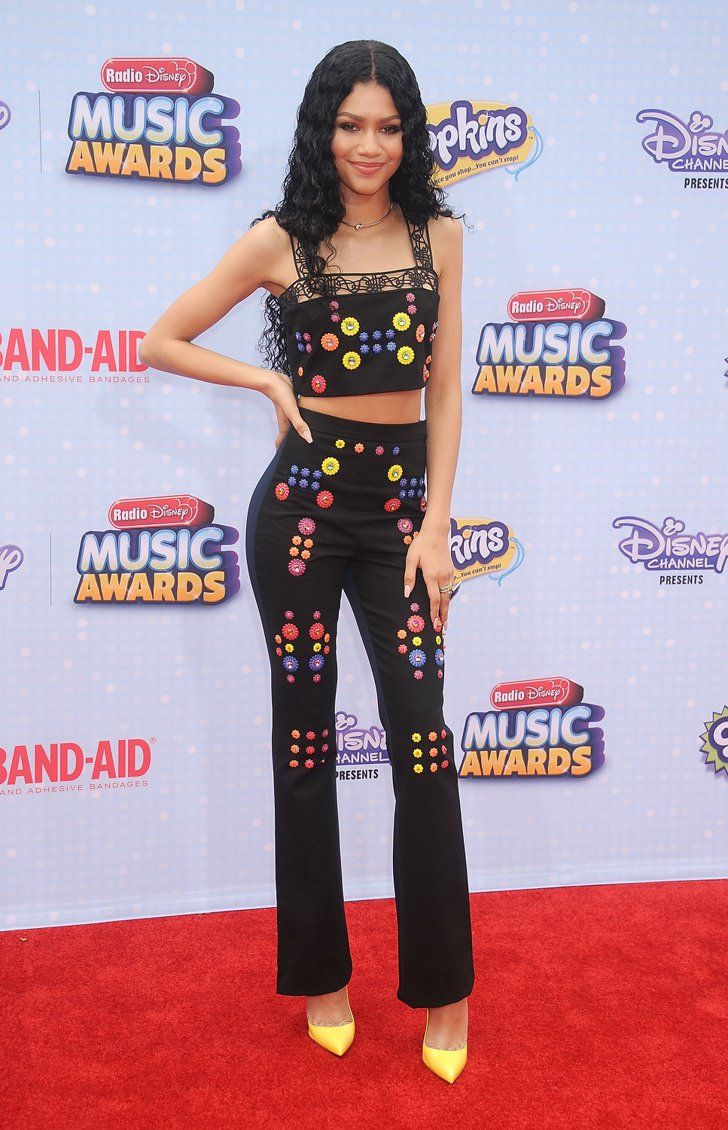 25b95c7bbea Pin for Later  The Weekend s Must-See Snaps! Zendaya struck poses on the  red carpet at the Radio Disney Music Awards in LA on Saturday.