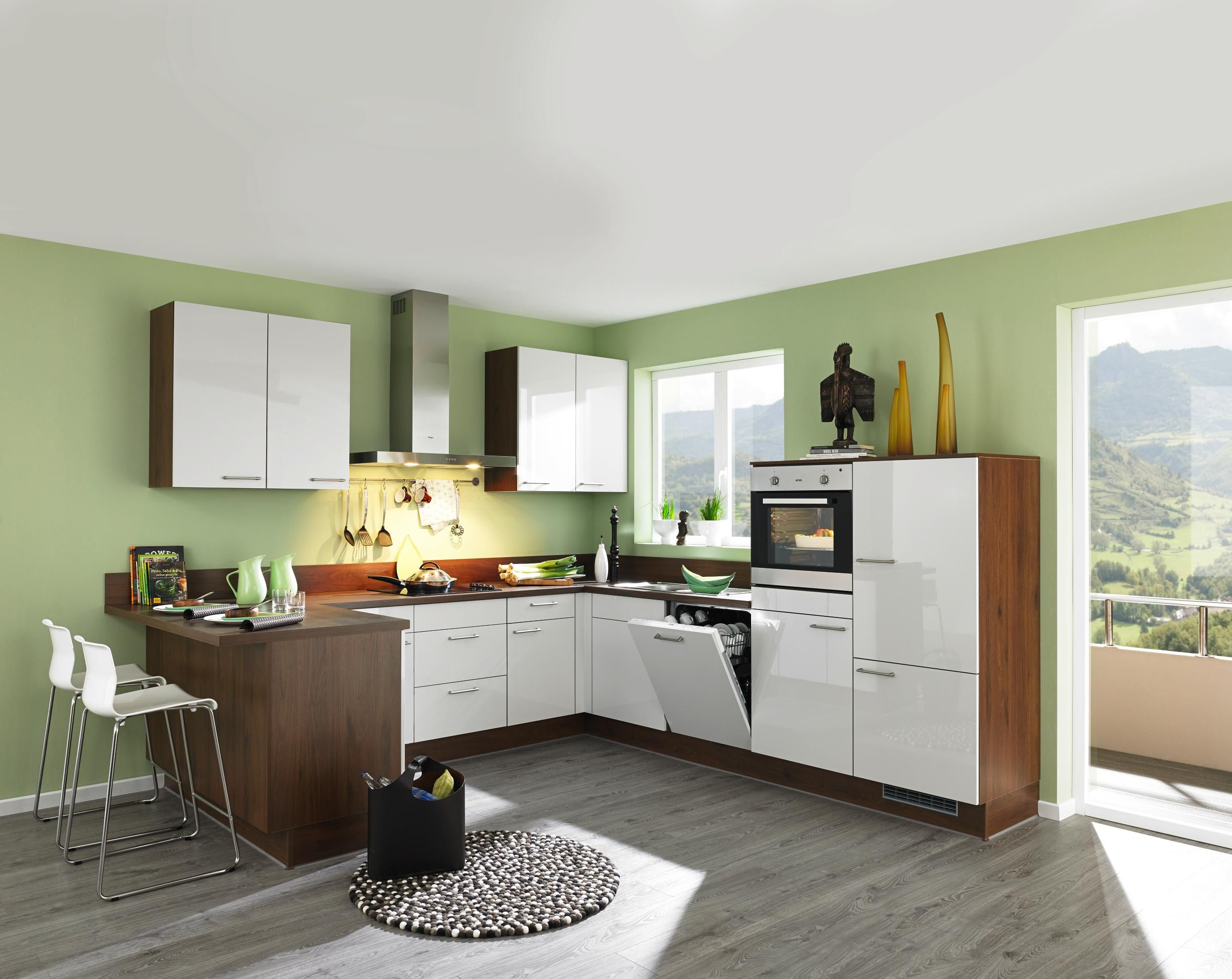 wohnliche eckküche für begeisterte hobbyköche - elektrogeräte