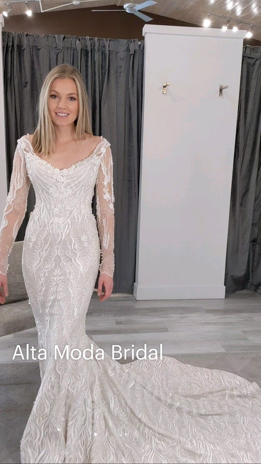 long sleeve wedding dress at Alta Moda Bridal