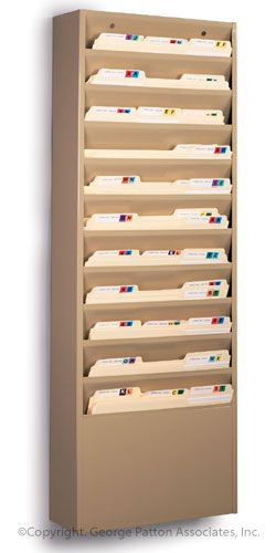 11 Tiered Wall File Holder Fits Letter Sizes Steel Tan