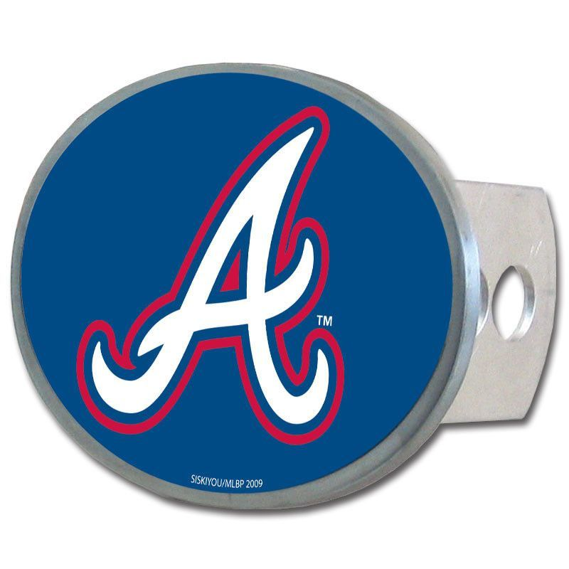Atlanta braves oval metal hitch cover class ii and iii