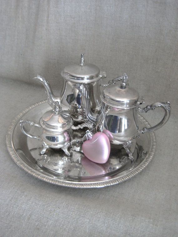 Godinger Silver Art Co Ltd Tea Set Etsy Tea Set Silver Plated Tea Set Antique Tea Sets