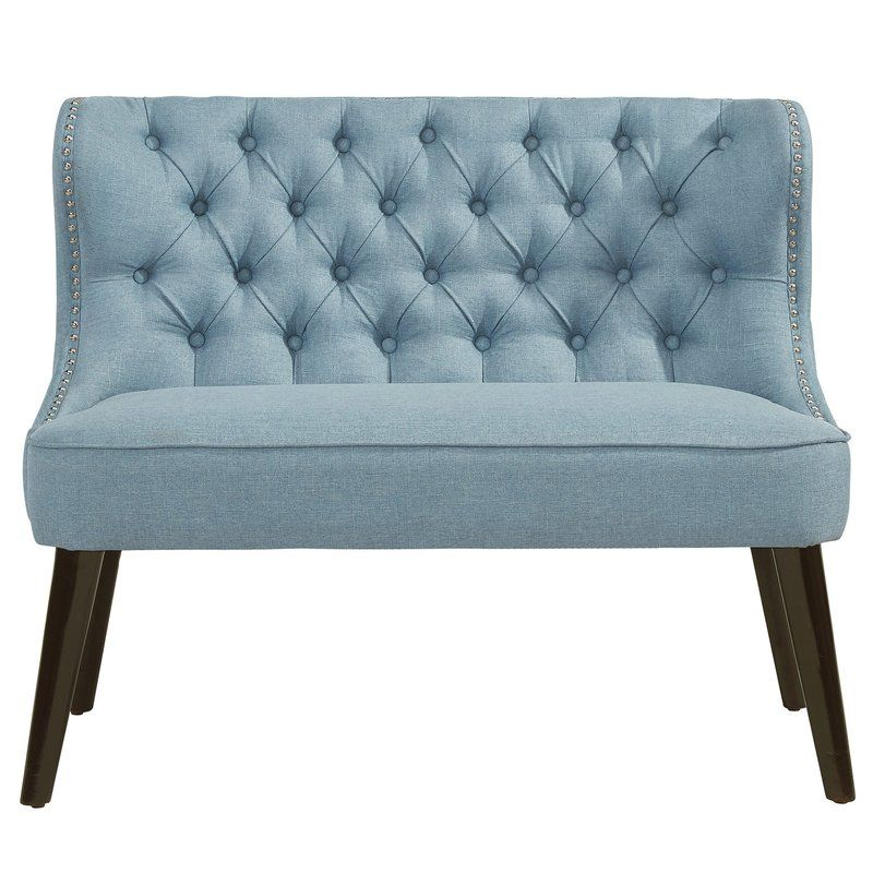 Living Room Settee Benches Arabian Themed Aguayo Tufted Wing Back Bench Decorating Pinterest