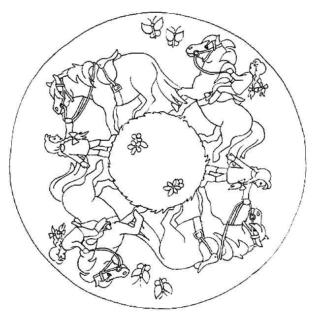 coloriage mandala cheval imprimer gratuit   Mandala   Pinterest ...