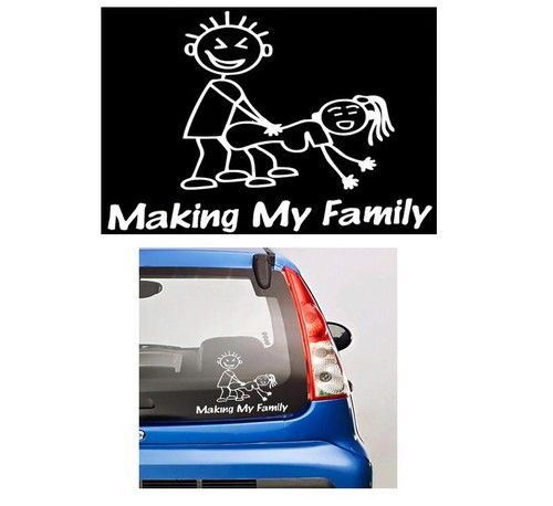 Making my stick family stickers for cars http customstickershop com