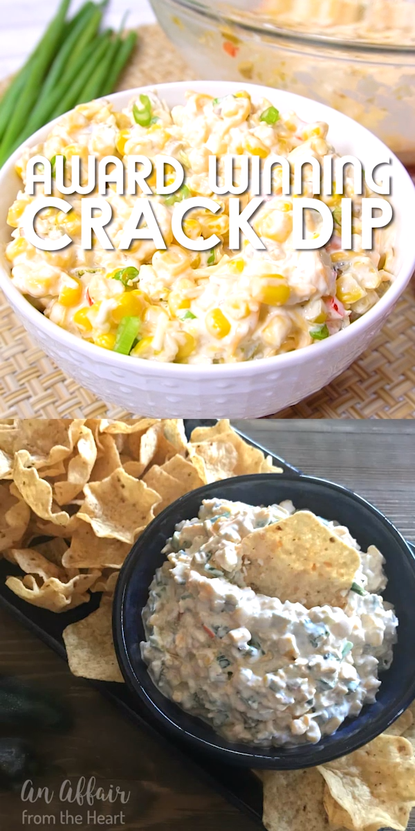 This dip is deliciously addictive! Creamy dip with a little bit of heat from the jalapeños, bursting with flavor from the MexiCorn and the green onions. This is a hit and the first thing gone at every party -- It isn't