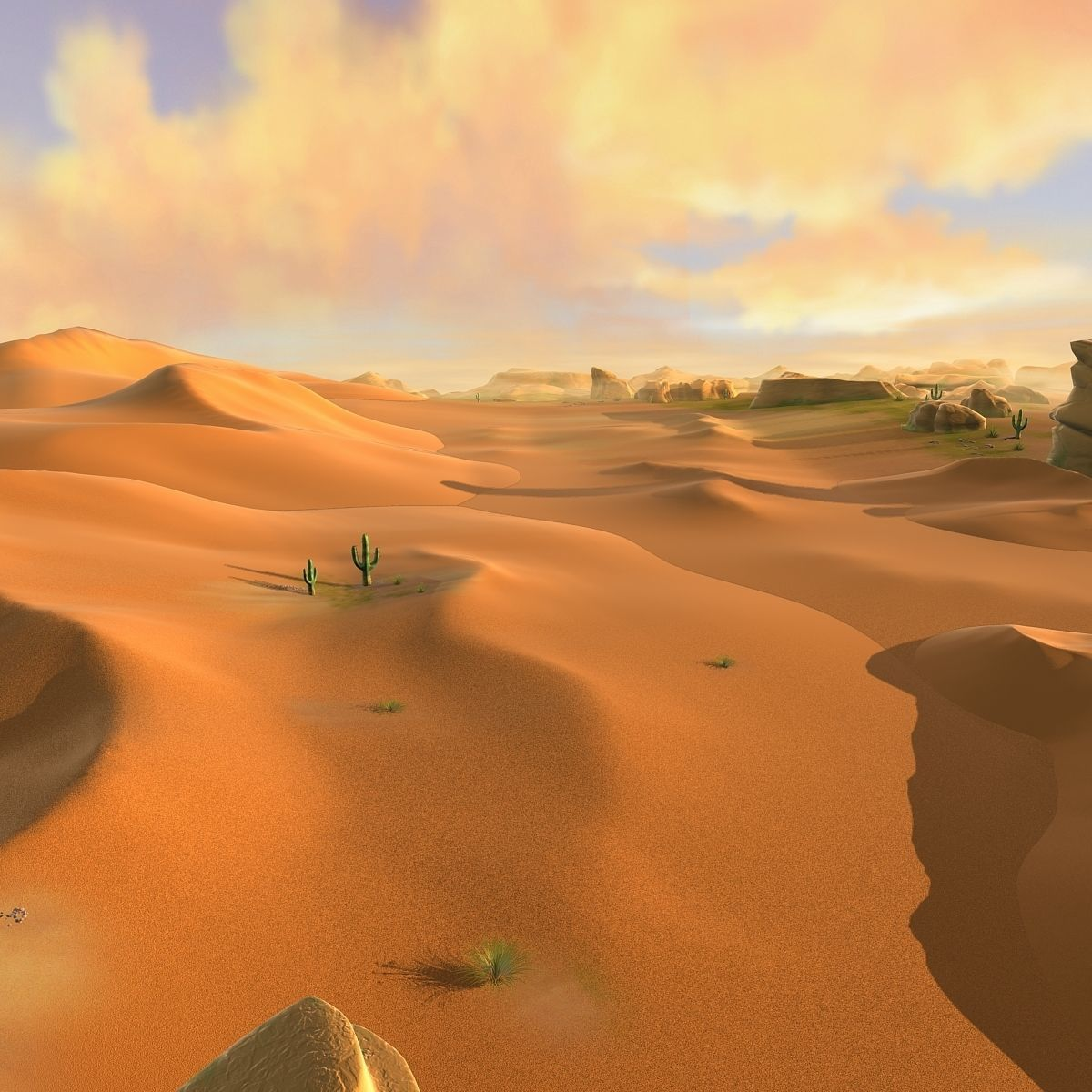 Desert Sand Desert Oasis Wilderness By Peacepark Notes 1 The Scene Includes 79 Low Poly Model And 18 Textures Sand Desert Desert Concept Art Desert Cartoon
