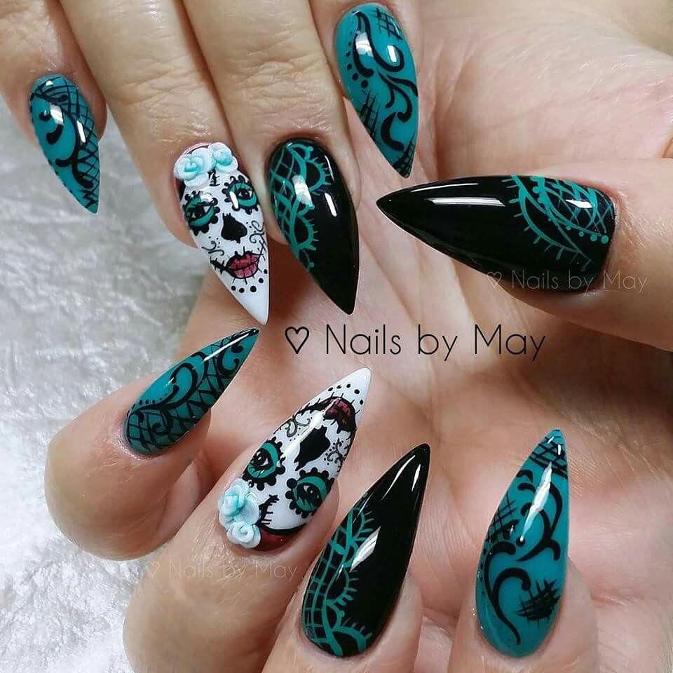 Teal and black | Ps | Pinterest | Teal, Black and Nail nail
