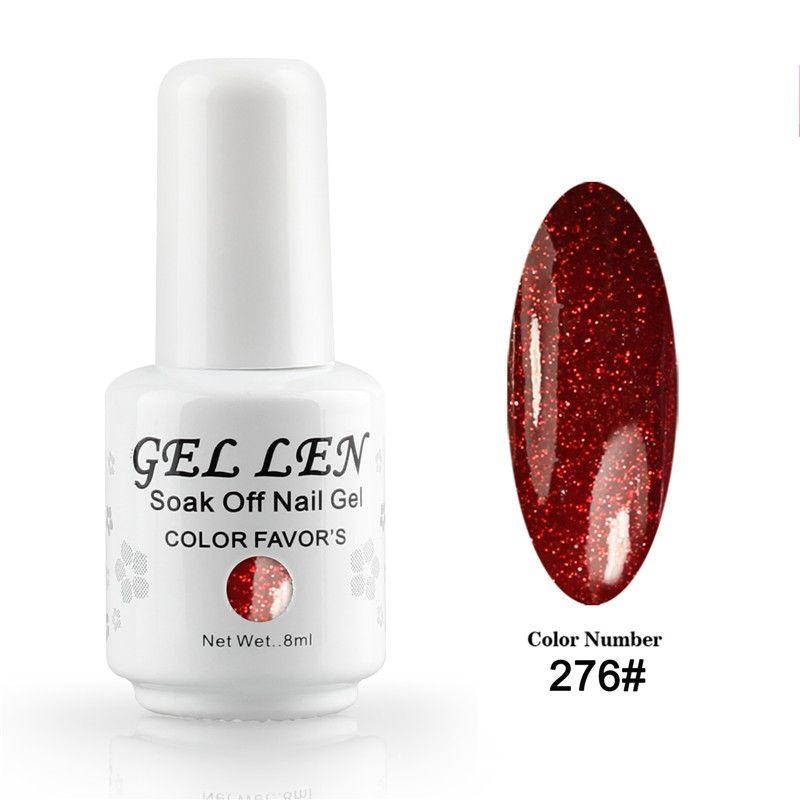 Gel Len Glitter Nail Polish Brand UV Soak Off Gel Polish Long ...