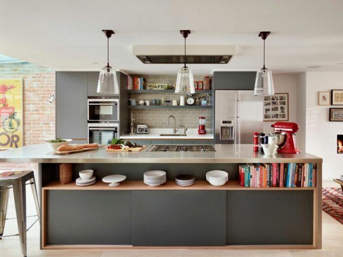 Kleine Küchen stellen ein kompaktes Küchendesign dar ...