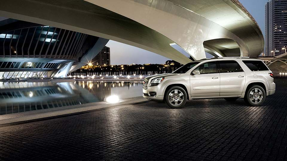The 2015 Gmc Acadia Denali Luxury Crossover In White Diamond