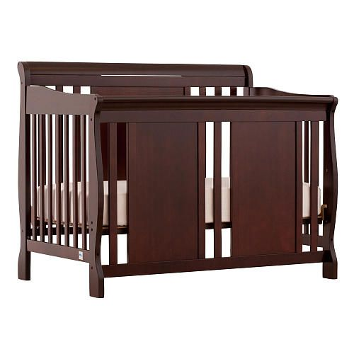 Stork Craft Verona 4 In 1 Fixed Side Convertible Crib Cherry Bedroom Furniture Stores Convertible Crib Espresso Convertible Crib