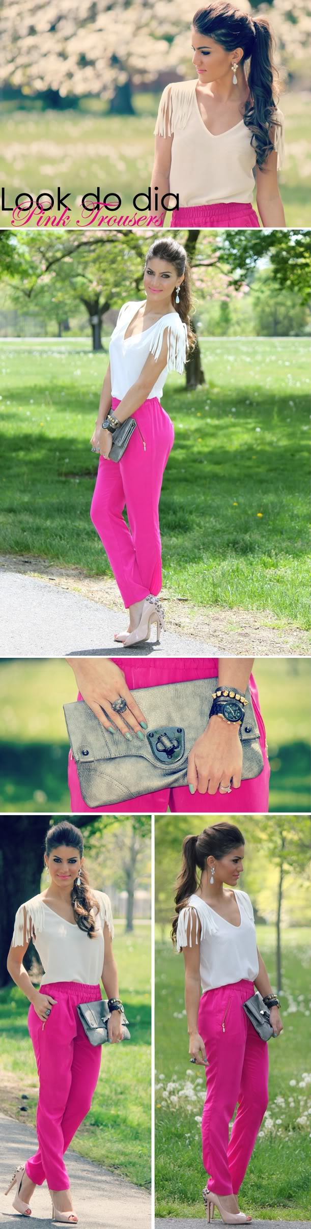Look do Dia: Pink Trousers