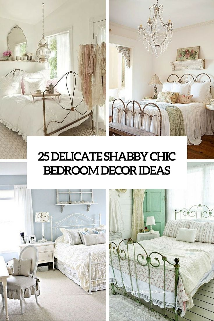 Country chic decor a bedroom
