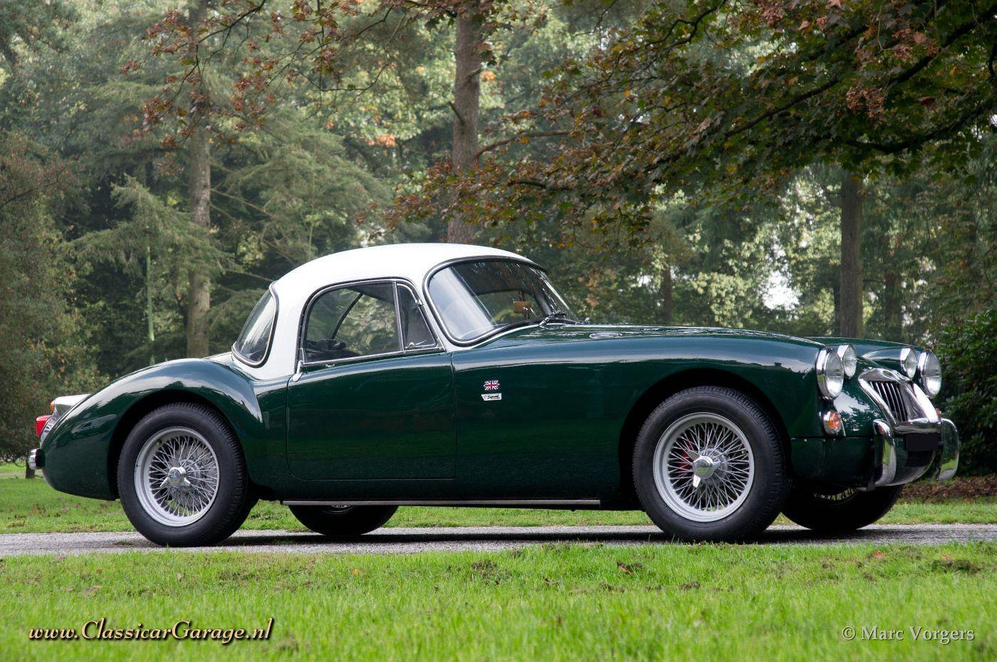 MGA 1960 Coupe - British Racing Green Body with a White Hardtop ...