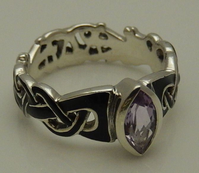 Viking Mammen Weave Ring In .925 Sterling Silver With