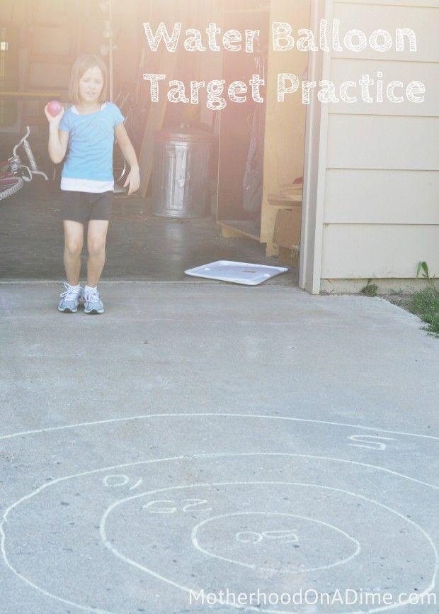 Water Balloon Activity for Kids:  Water Balloon Target Practice