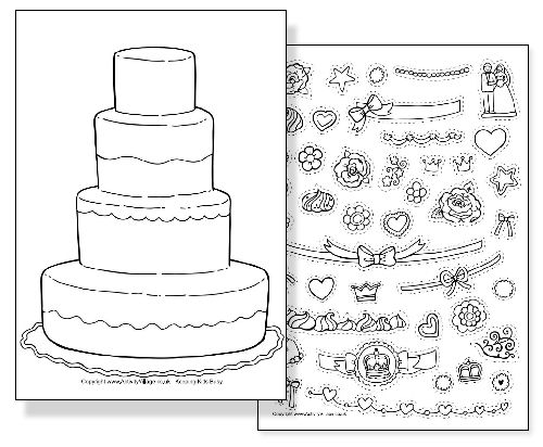 The Royal Wedding  Free Printables  Coloring Kate middleton and