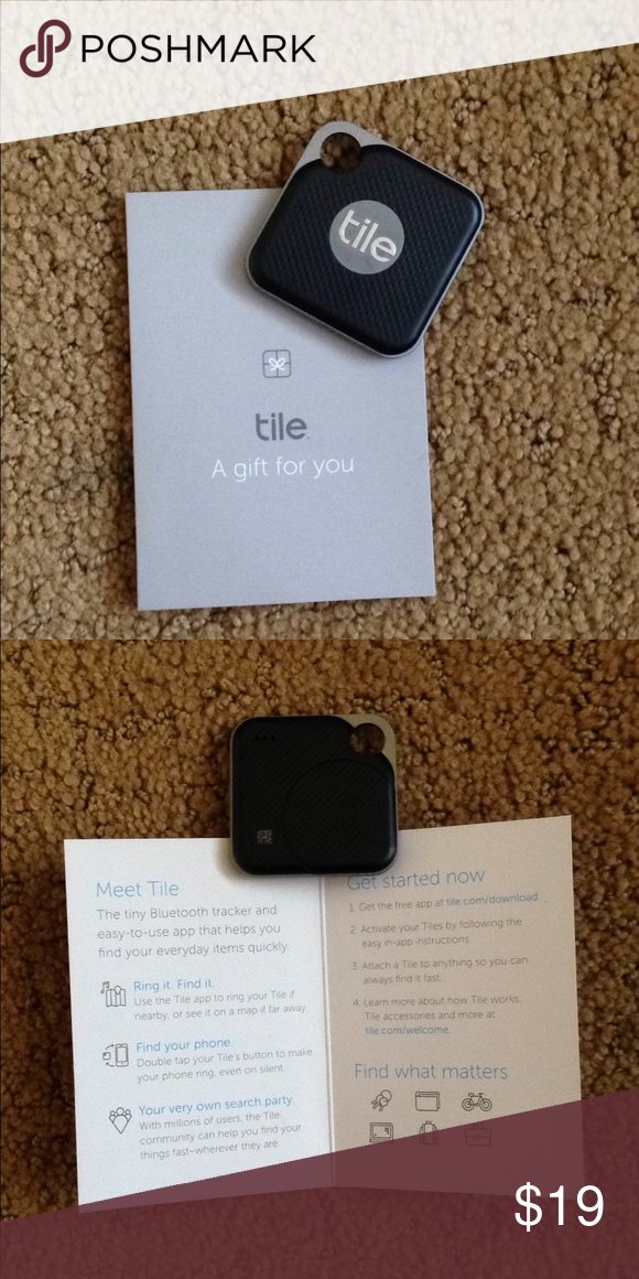 Tile Bluetooth Tracker Never Used New Tile Tile Office In 2020 Tile Bluetooth Tracker Tile Bluetooth Bluetooth Tracker