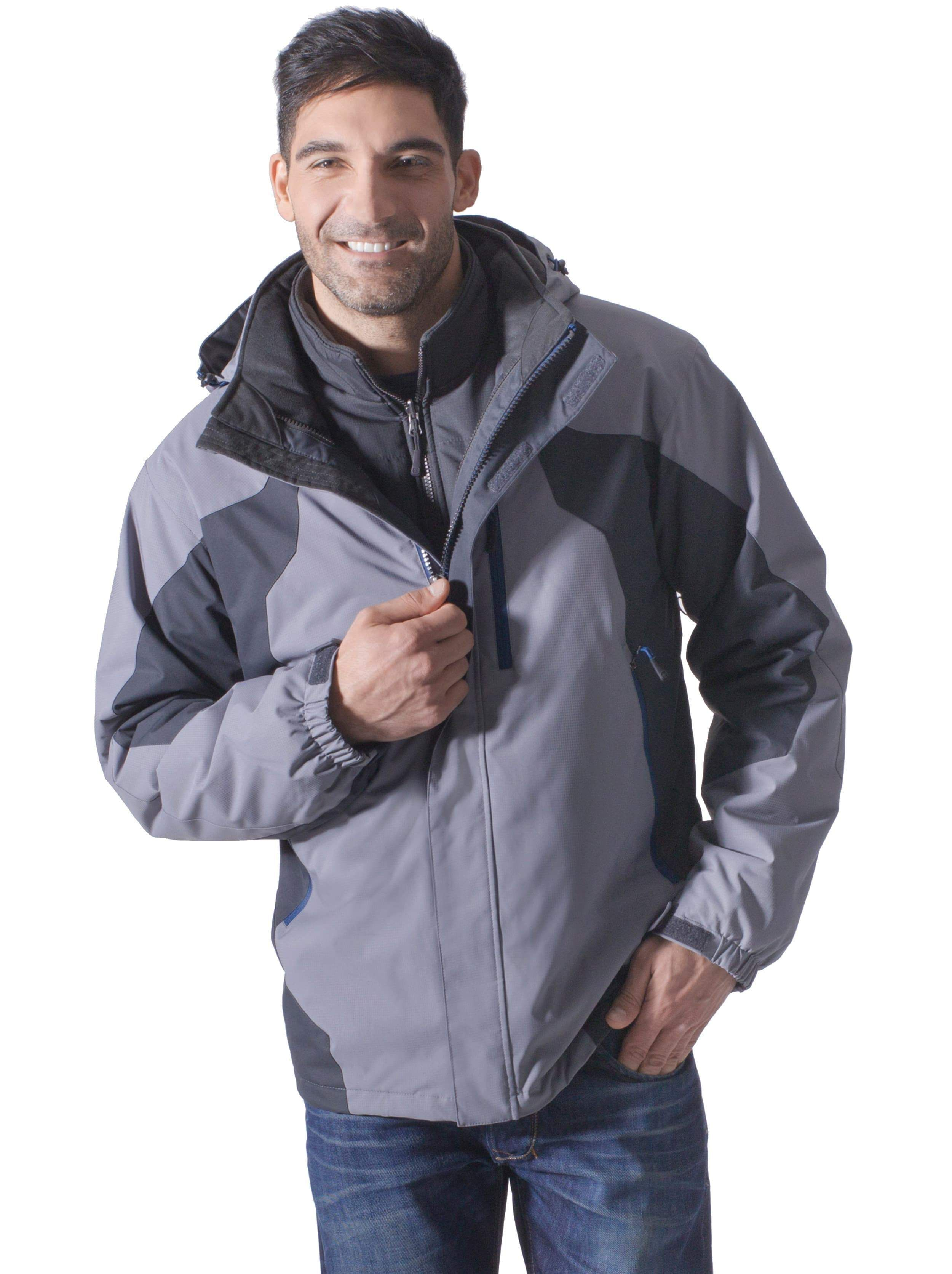 Free country mens drizzler 3in1 systems jacket