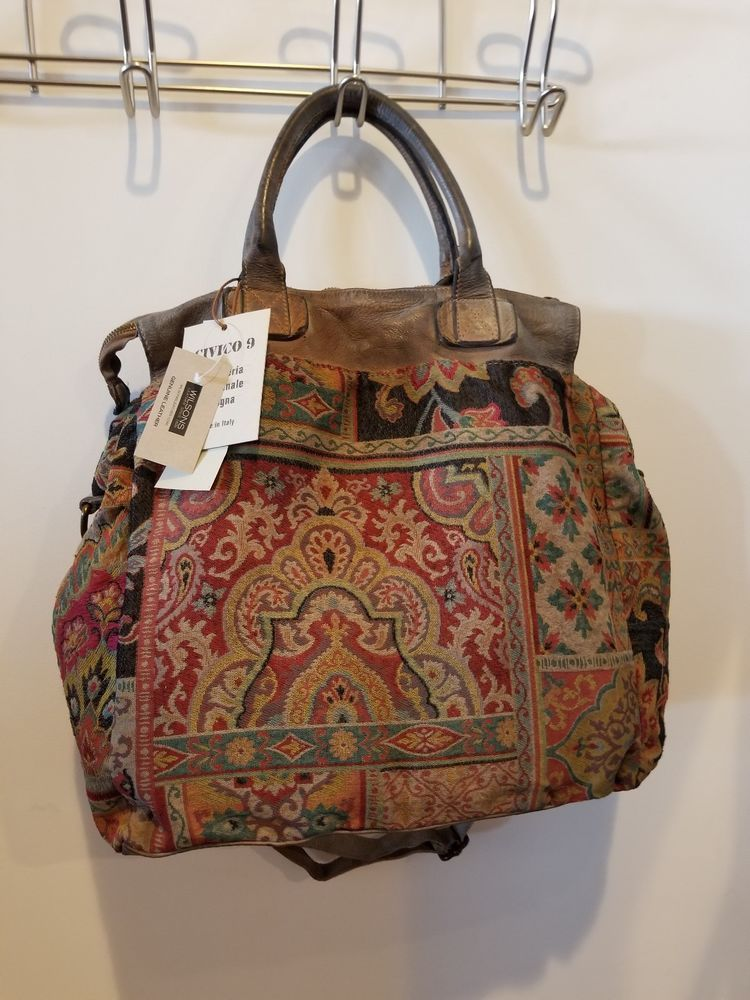 NWT Wilsons Tapestry/Carpet bag W/shoulder strap and
