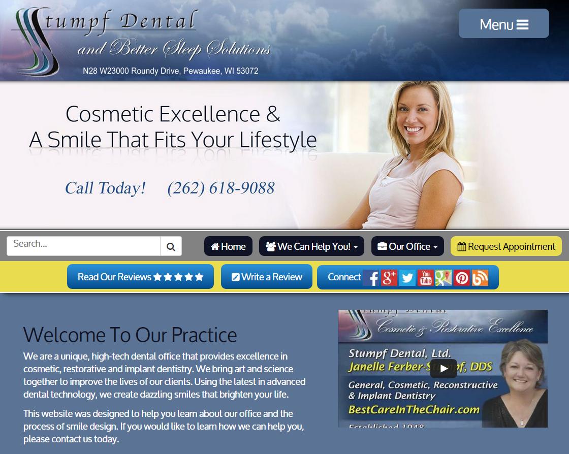 Dr. Janelle Ferber-Stumpf | #PewaukeeDentist #SleepApneaWebsite #ResponsiveWebsite #DentalWebsite