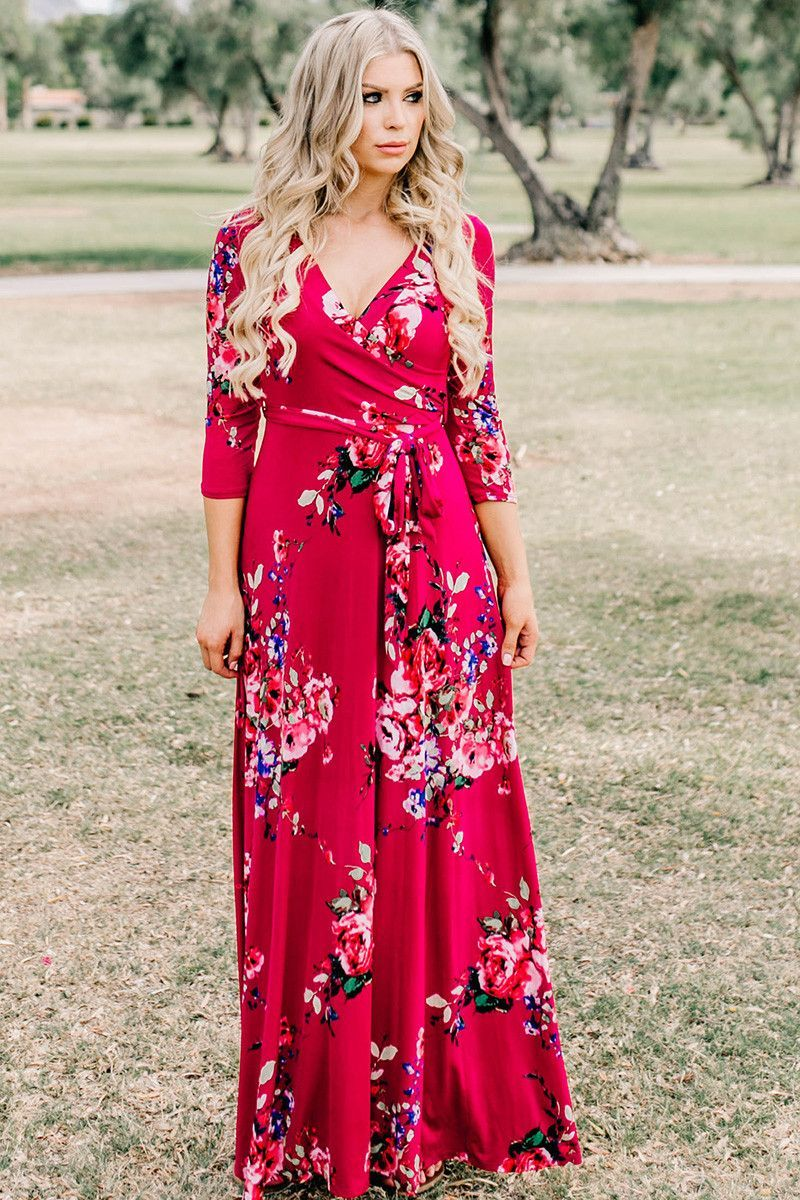 Harper wrap maxi dress berry in dress pinterest dresses