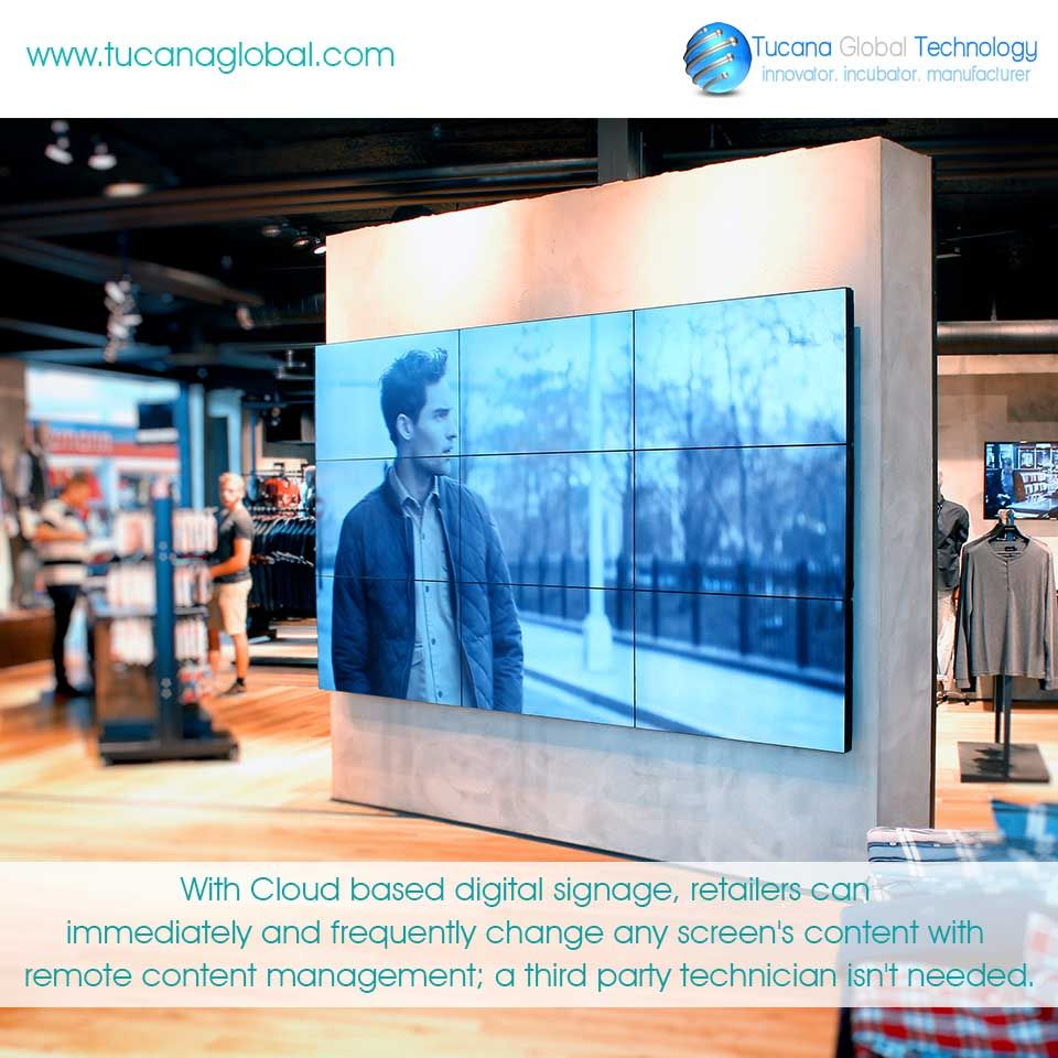 With #Cloud based #digitalsignage, #retailers can